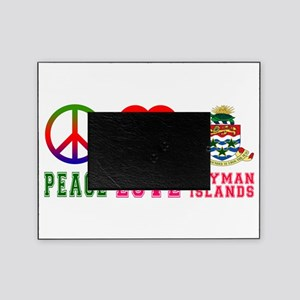 Peace Love Cayman Islands Picture Frame