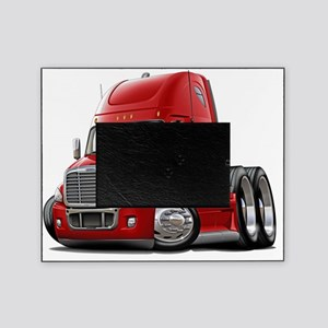 Freightliner Cascadia Red Truck Picture Frame