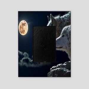 Full Moon Wolves Picture Frame