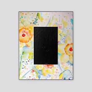 Watercolor Daffodils Pattern Picture Frame