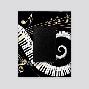 Piano and musical notes Picture Frame