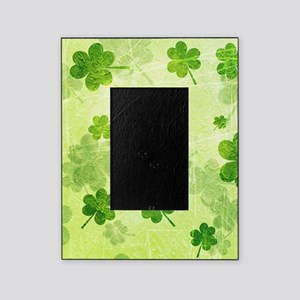 Green Shamrock Pattern Picture Frame