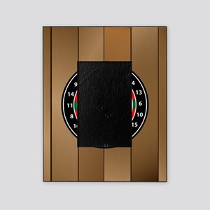 Darts Board On Wooden Background Picture Frame