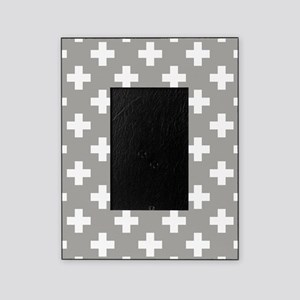 Grey Plus Sign Pattern Picture Frame