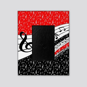 Red and black music theme Picture Frame
