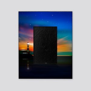 Sunrise Over The Sea And Lighthouse Picture Frame