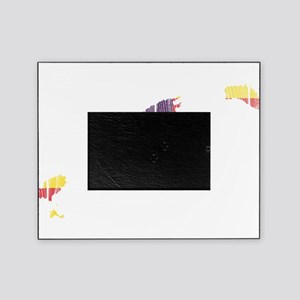 Balearic Islands Flag And Map Picture Frame
