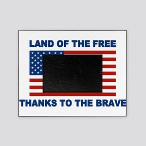 Land Of The Free Thanks To The Brave Picture Frame