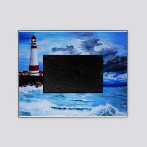 crashing waves Picture Frame