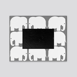 White Elephants Silhouette Picture Frame
