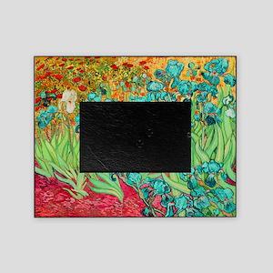 van gogh teal irises Picture Frame
