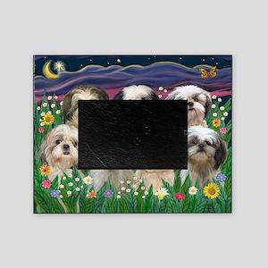 8x10-7 SHIH TZUS-Moonlight Garden Picture Frame