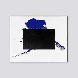 Alaska State Map and Flag Picture Frame