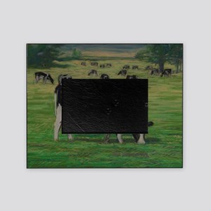 Holstein Milk Cow in Pasture Picture Frame