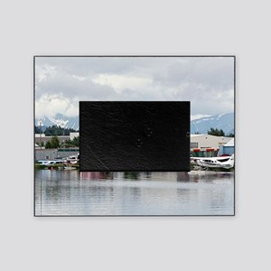 Lake Hood, Alaska, and mountains Picture Frame