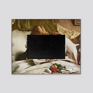 Suspense by Charles Burton Barber Picture Frame