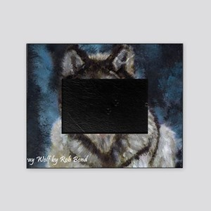 Gray Wolf Picture Frame