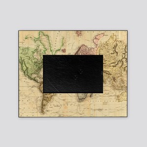 Vintage Map of The World (1831)  Picture Frame