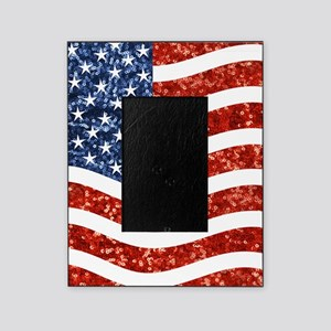 sequin american flag Picture Frame