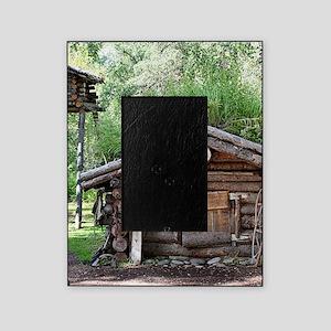 Old log cabin in woods, Alaska, USA Picture Frame