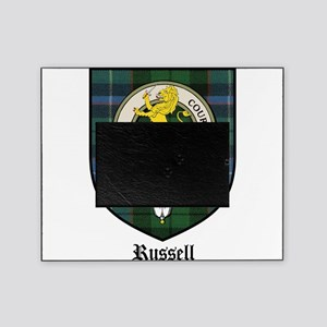 Russell Clan Crest Tartan Picture Frame