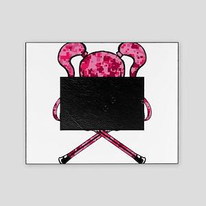 Lacrosse Pink Lady Digital Camo Skull Picture Fram