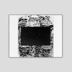 skulls dark ink Picture Frame