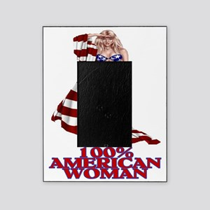 100% AMERICAN WOMAN Picture Frame