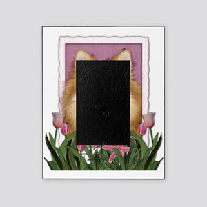 PinkTulipsPomeranian Picture Frame