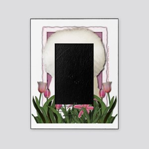 Pink_Tulips_Bichon_Frise Picture Frame