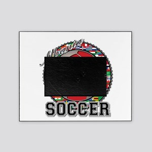 Albania Flag World Cup Soccer Ball Picture Frame
