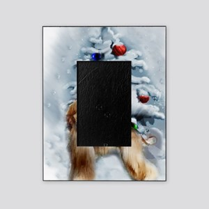 Afghan Hound Christmas Picture Frame