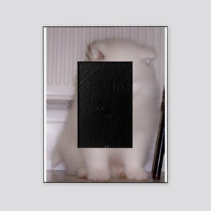 puppy samoyed Picture Frame