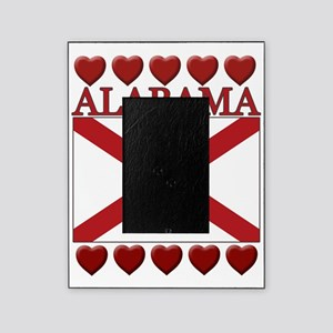 Alabama Flag Hearts Picture Frame