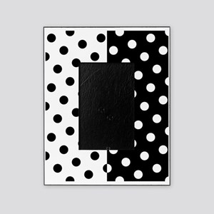 White and Black Polka Dots Picture Frame