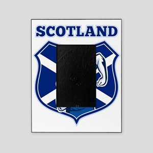 rugby player running shield scotland Picture Frame