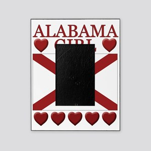 Alabama Girl Flag Hearts Picture Frame
