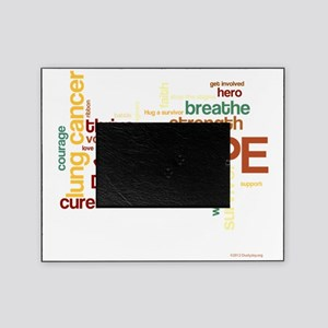 Lung Cancer Word Art (dk) Picture Frame