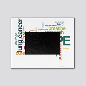 Lung Cancer Word Art (lt) Picture Frame