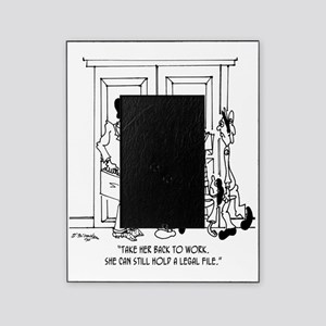 7344_law_cartoon Picture Frame