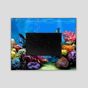 Tropical Fish Aquarium with Bright C Picture Frame