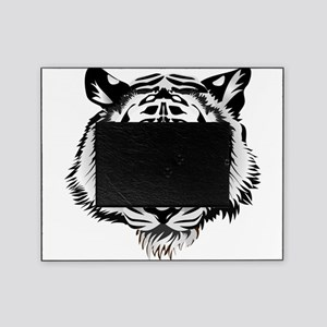 White Tiger Face Picture Frame