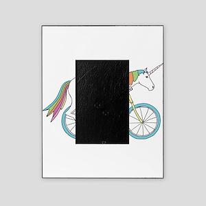 Unicorn Riding Bike Picture Frame