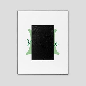 CUSTOM Green Monogram Picture Frame