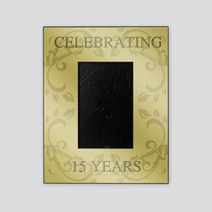 15th Wedding Anniversary Picture Frame