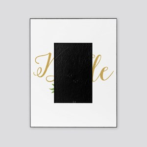 The Bride-Modern Text Design Gold Gl Picture Frame
