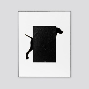 vizsla silhouette black Picture Frame