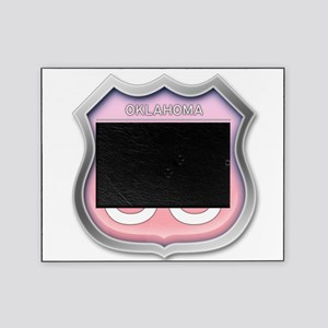 Oklahoma Route 66 - Pink Picture Frame