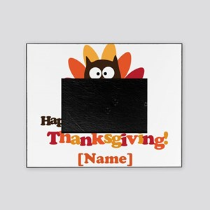 Personalized Happy Thanksgiving Owl Picture Frame