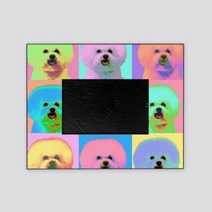 Op Art Bichon Picture Frame